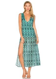 Vix Swimwear Snake Siena Caftan in Green. - size M (also in L,S)