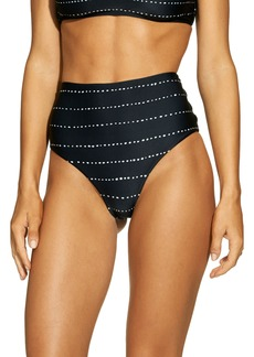 ViX Swimwear Stripe Dot High Waist Bikini Bottoms