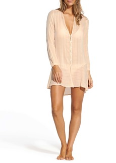 ViX Swimwear Vanilla Steph Linen Blend Cover-Up Tunic