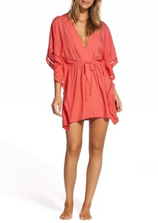 ViX Swimwear Watermelon Embroidered Cover-Up Wrap