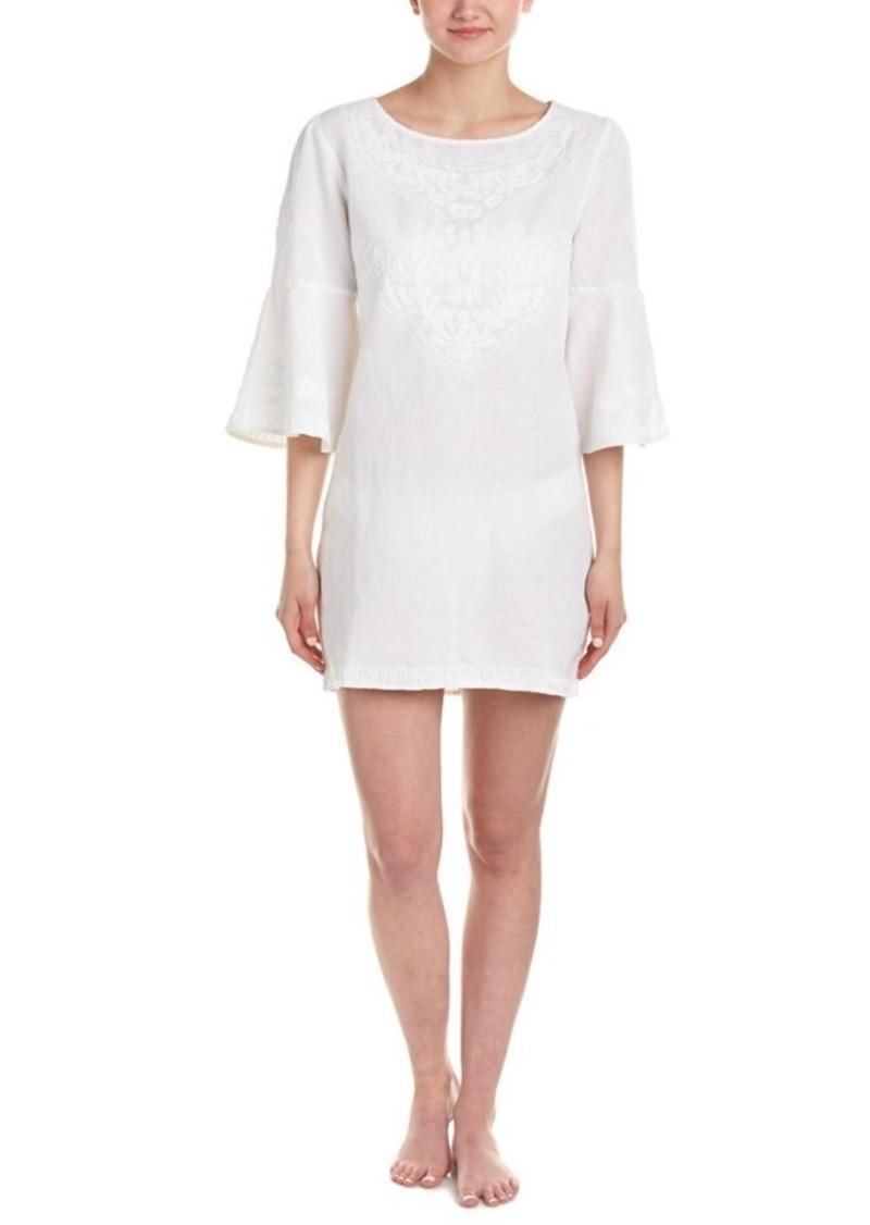 ViX ViX White Becky Linen-Blend Shor...