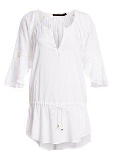 Vix White Embroidered Tunic