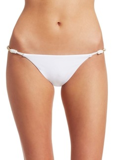 Vix White Roll Bikini Bottom