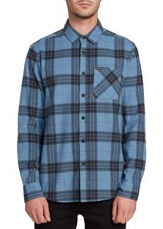 Volcom Caden Plaid Button-Up Flannel Shirt