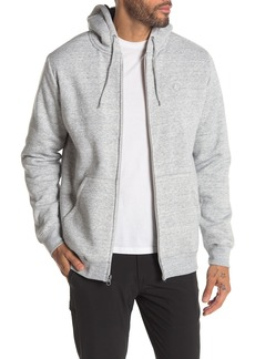 Volcom Foreman Fleece Lined Full Zip Hoodie