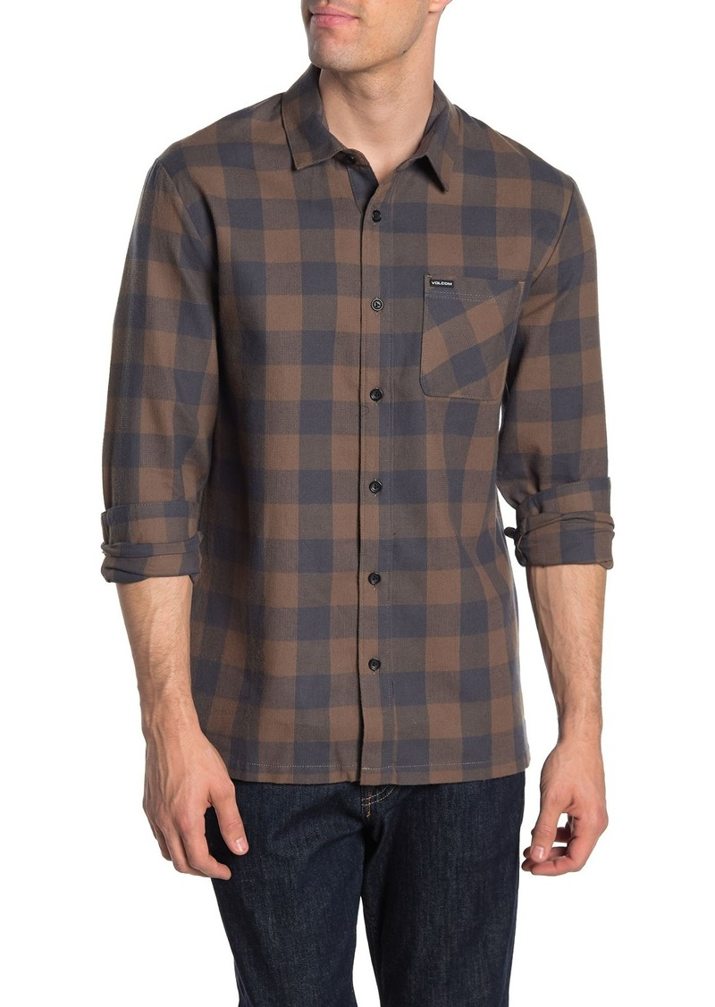 Volcom Joneze Check Print Regular Fit Shirt