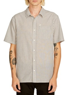 Volcom Kramer Striped Short Sleeve Classic Fit Shirt