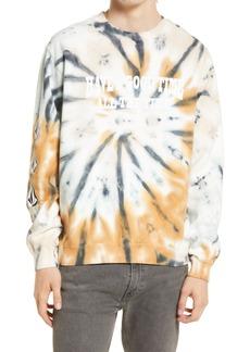 Men's Volcom X Outer Banks Men's Have A Good Time Tie Dye Graphic Sweatshirt