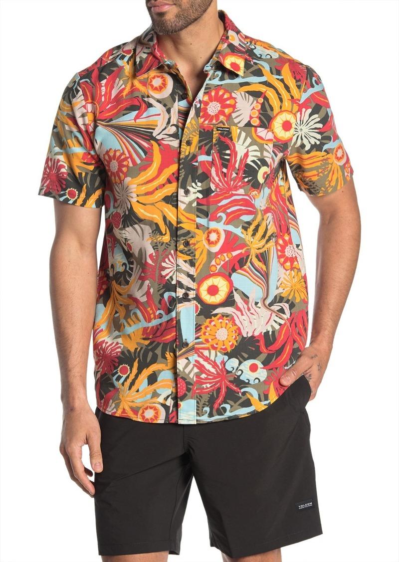 Volcom Psych Floral Modern Fit Shirt