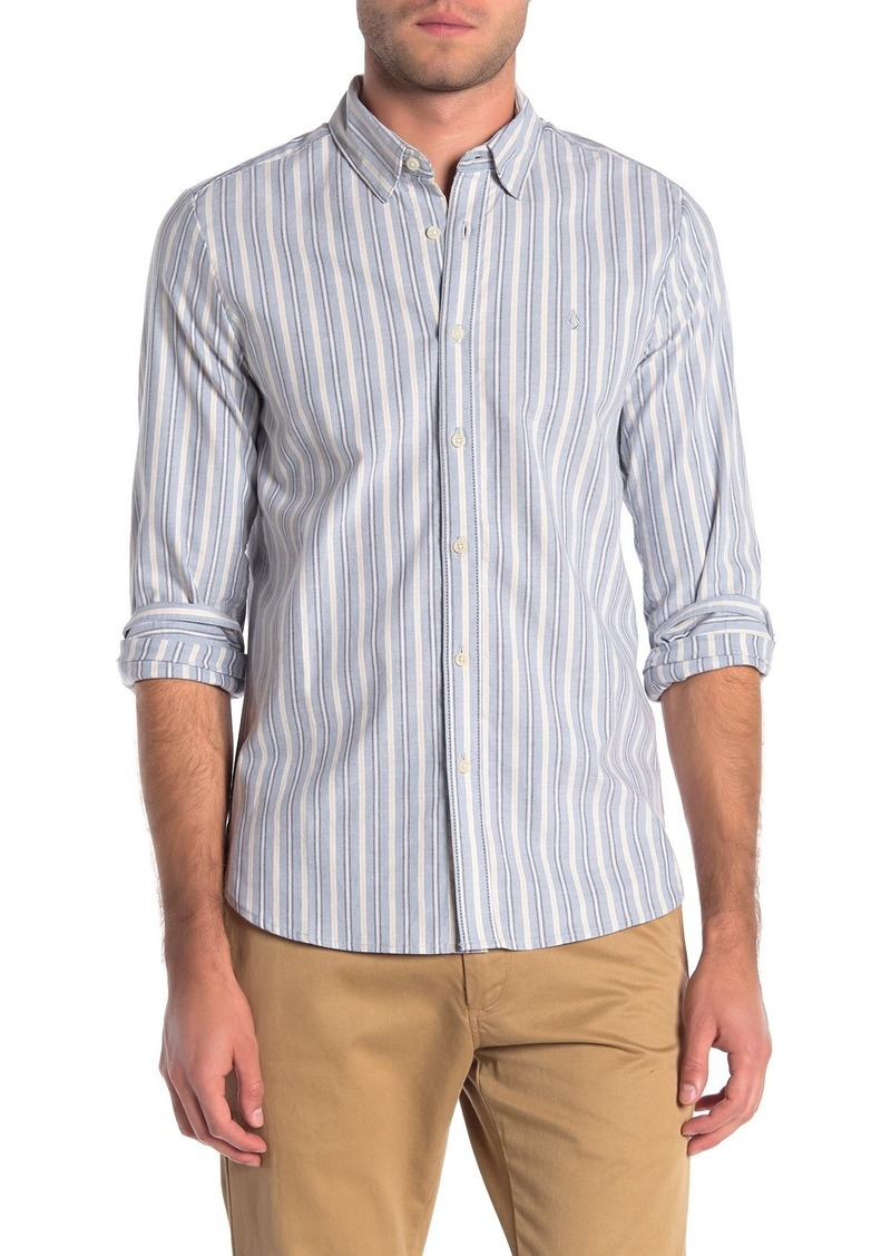 Volcom Vertical Stripe Print Regular Fit Shirt