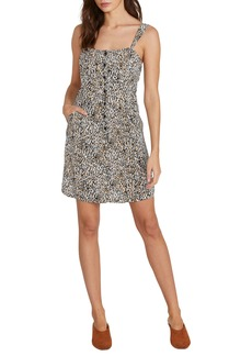 Volcom 1 Minute More Leopard Print Minidress
