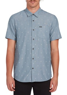 Volcom Archive Mark Dobby Short Sleeve Button-Up Shirt