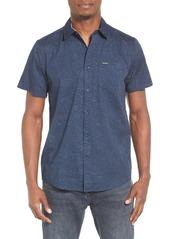 Volcom Bayne Trim Fit Short Sleeve Print Woven Shirt