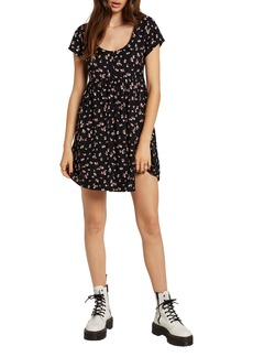 Volcom Beach Floral Print Minidress