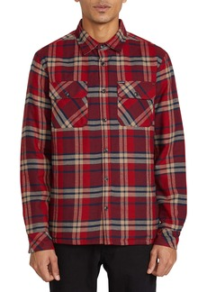 Volcom Belgrade Plaid Button-Up Shirt