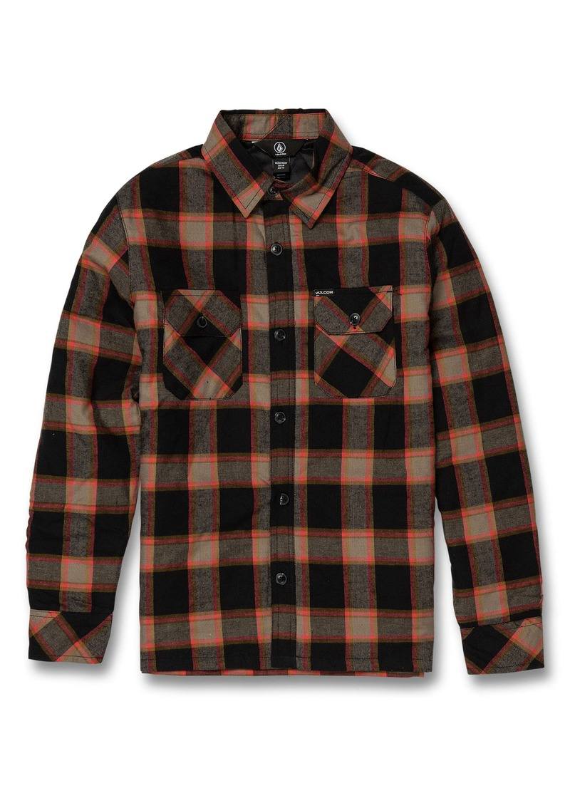 Volcom Belgrade Plaid Shirt Jacket (Big Boys)