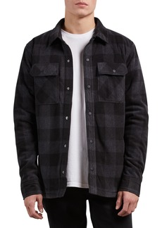 Volcom Bower Check Print Fleece Jacket
