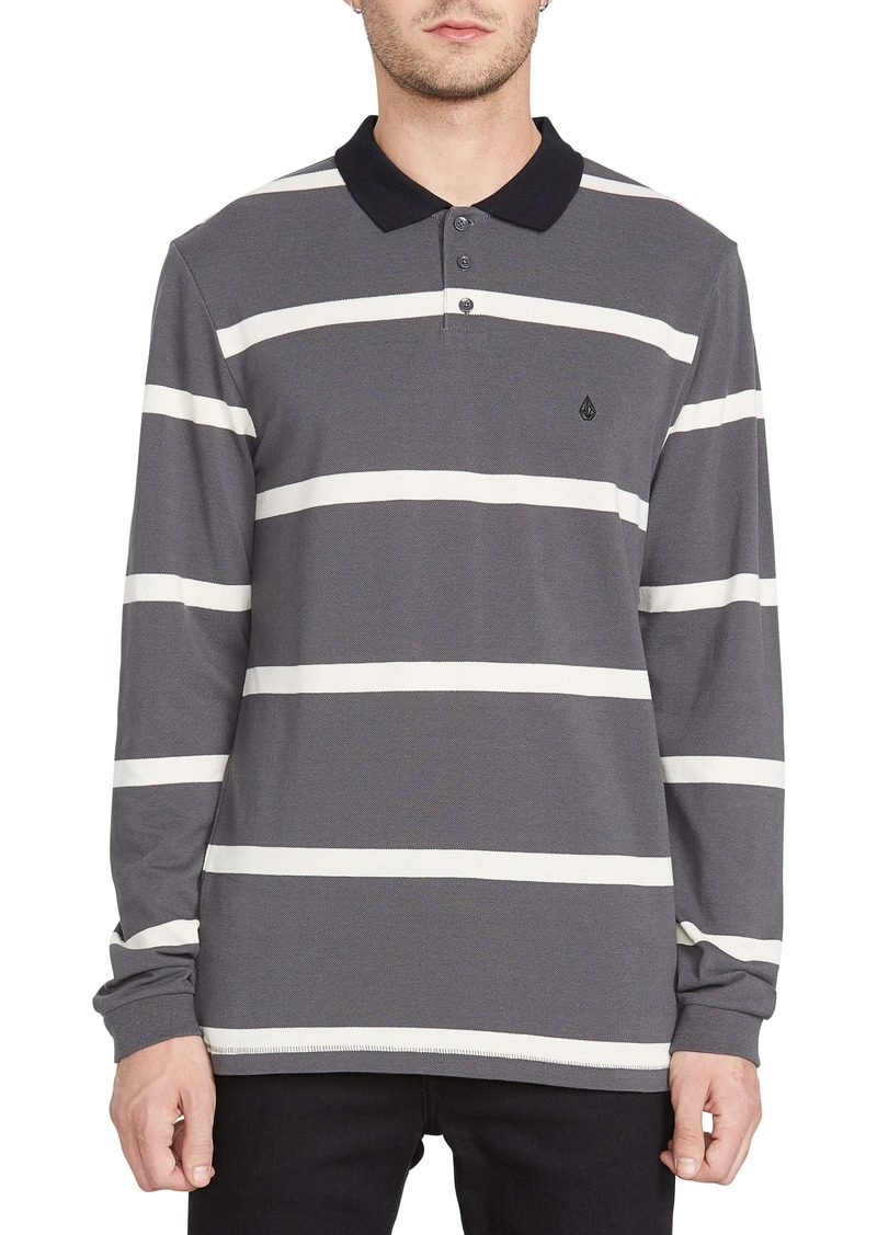 Volcom Bracer Long Sleeve Stripe Piqué Polo