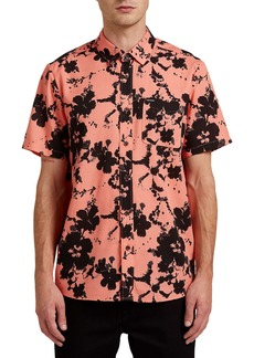 Volcom Burres Floral Short Sleeve Button-Up Shirt