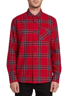 Volcom Caden Plaid Button-Up Flannel Shirt