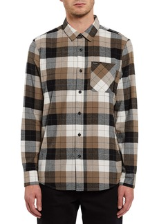 Volcom Caden Plaid Flannel Button-Up Shirt