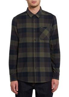 Volcom Caden Plaid Flannel Button-Up Shirt