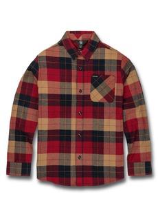 Volcom Caden Plaid Flannel Shirt (Big Boy)