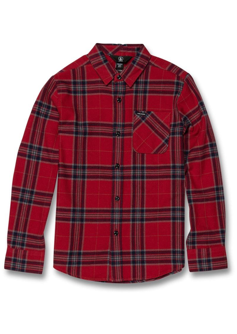Volcom Caden Plaid Flannel Shirt (Big Boys)