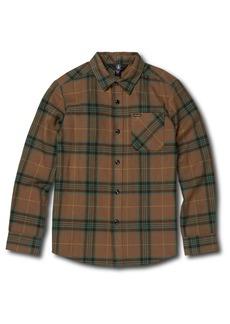 Volcom Caden Plaid Flannel Shirt (Toddler Boys & Little Boys)