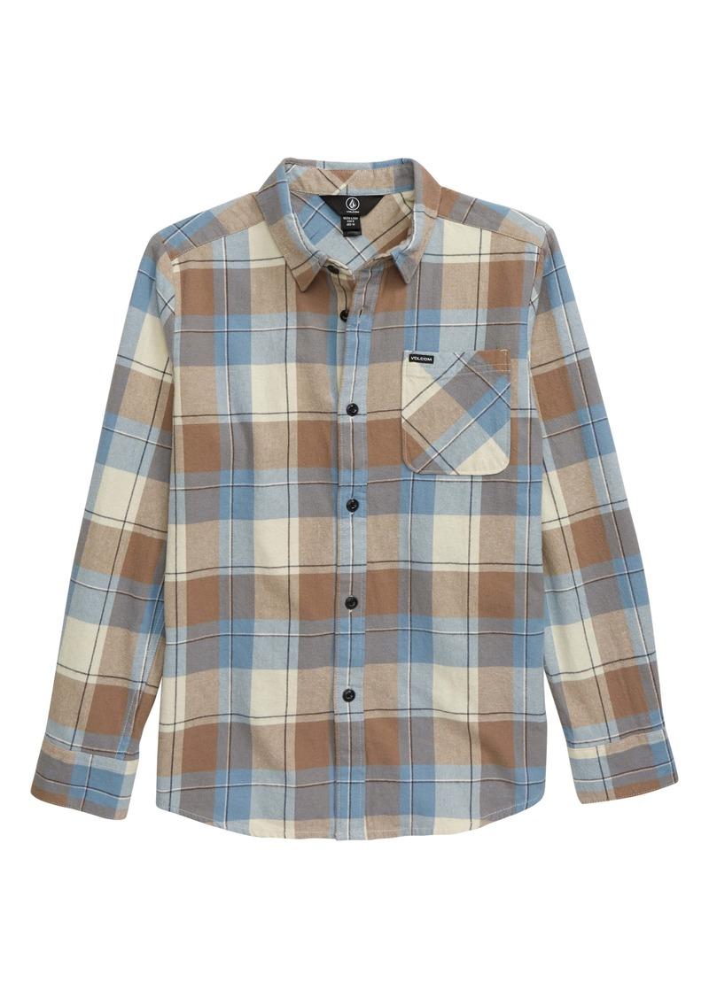 Volcom Caden Plaid Shirt (Big Boys)