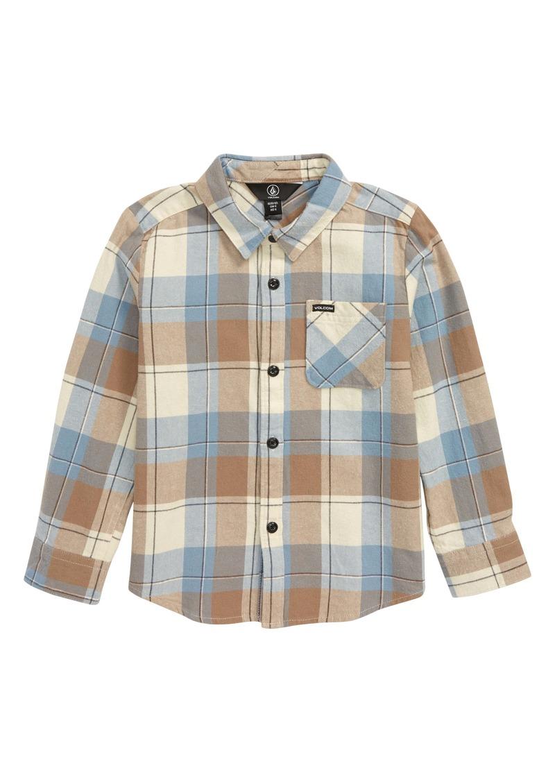 Volcom Caden Plaid Shirt (Toddler Boys & Little Boys)