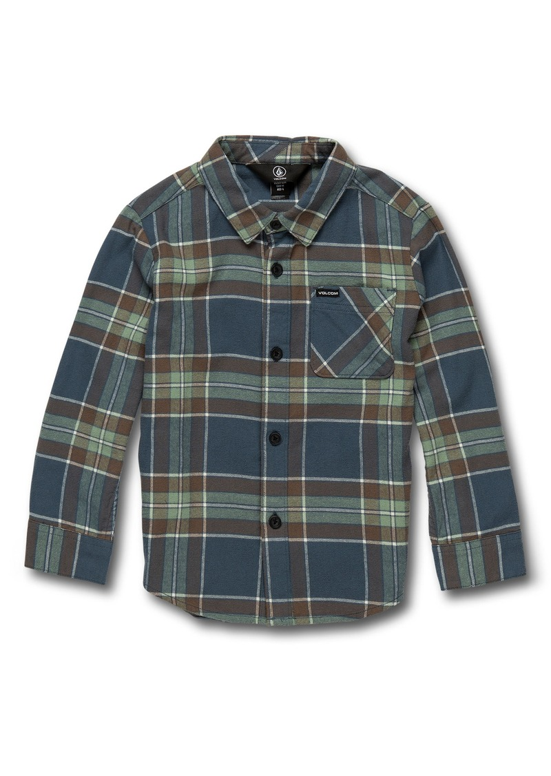 Volcom Caden Plaid Woven Shirt (Toddler Boys & Little Boys)