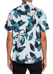 Volcom Cut Out Floral Short Sleeve Button-Up Shirt