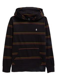 Volcom Da Fino Stripe Cotton Hooded T-Shirt (Big Boy)
