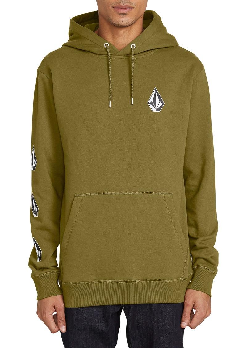 Volcom Mens Profile Pullover Hooded Fleece Sweatshirt