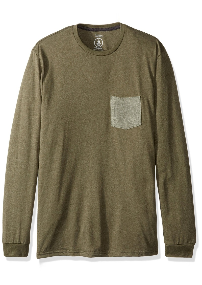Volcom en's New Twist Long Sleeve Shirt Pocket T-Shirt  edium