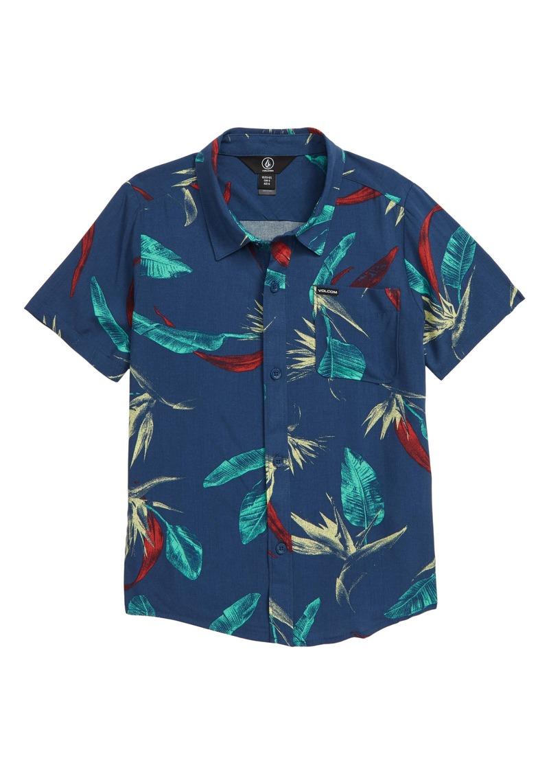 Volcom Faxer Floral Button-Up Shirt (Big Boys)