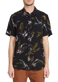 Volcom Faxer Slim Fit Floral Short Sleeve Button-Up Shirt