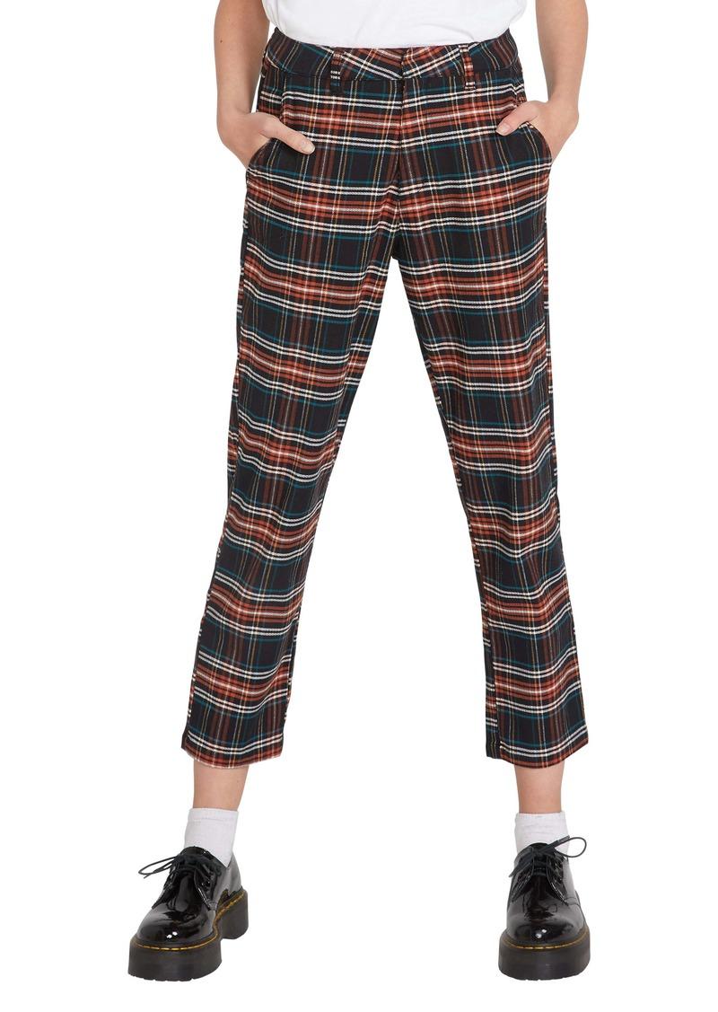 Volcom Frochickie Plaid High Waist Pants