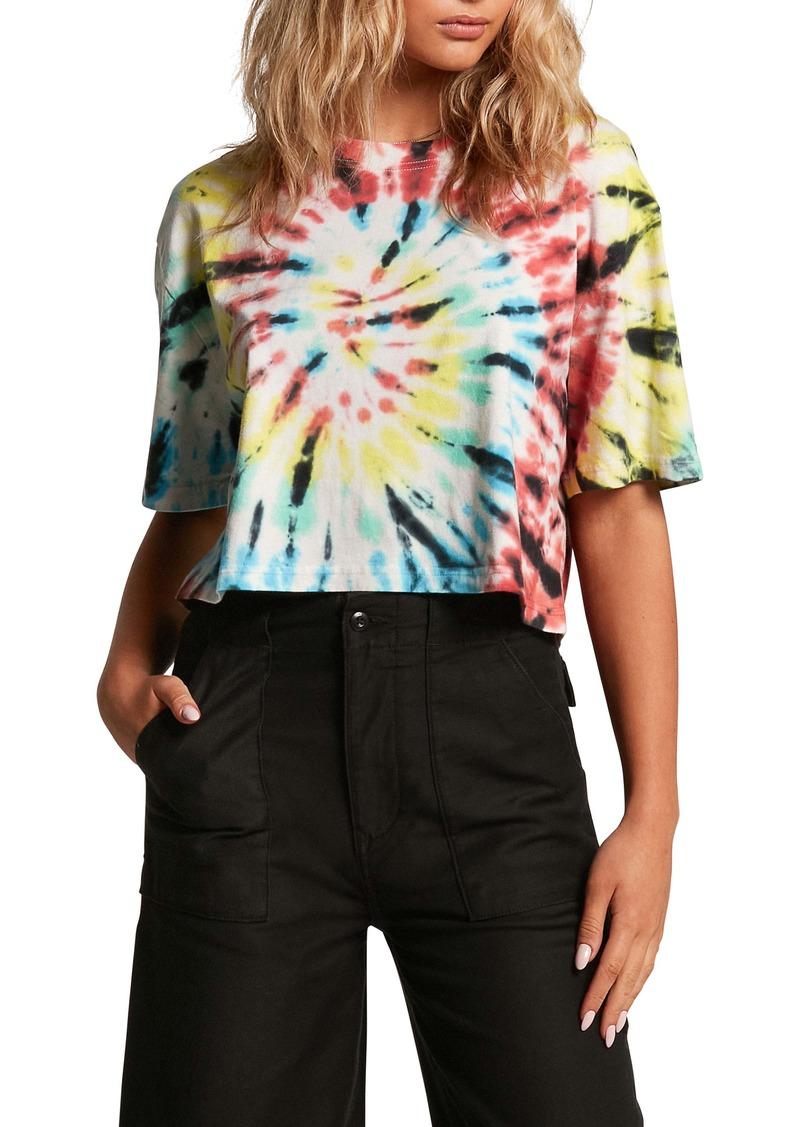 Volcom Galactic Stone Tie Dye Crop T-Shirt