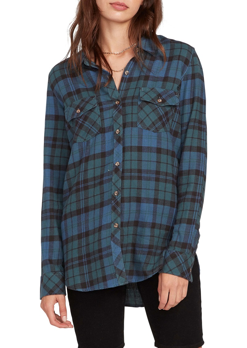 Volcom Getting Rad Plaid Top