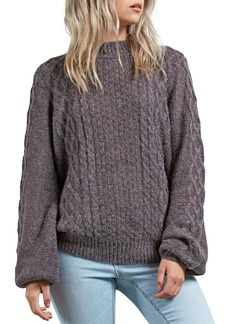 Volcom Hellooo Cable Knit Sweater