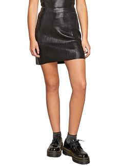 Volcom Hey Slick Ribbed Miniskirt