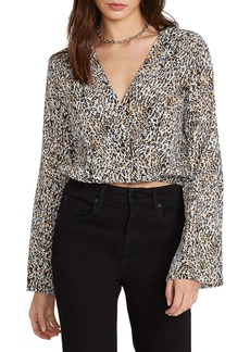 Volcom I'm a Leo Long Sleeve Crop Top