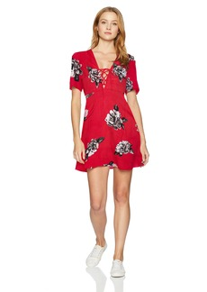 Volcom Junior's April March Modern FIT TEE Dress rad red L