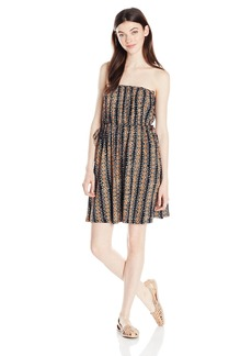 Volcom Junior's Avalaunch Tribal Boho Print Strapless Dress  L