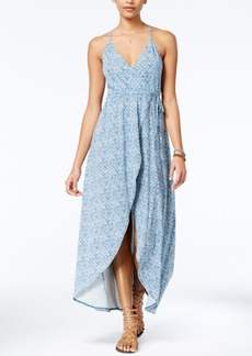 Volcom Juniors' Beckon Me Wrap-Front Maxi Dress
