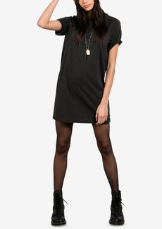 Volcom Juniors' Boyfriend Me Cotton Graphic T-Shirt Dress