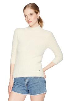 Volcom Junior's Bunney Riot Fuzzy Mock Neck Pullover Sweater  L