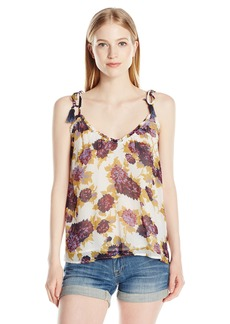 Volcom Junior's Canyon Call Floral Cami with Tassel Straps  S